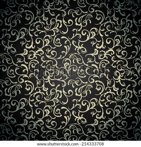 Elegant vintage abstract floral wallpaper. Seamless pattern  - stock vector