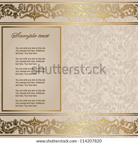 Elegant vintage card - stock vector