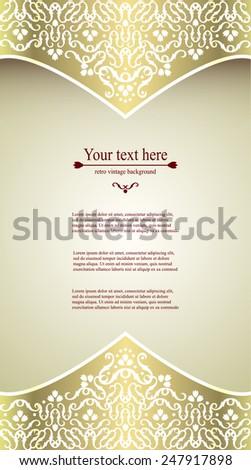 elegant vintage card flyer invitation template design background