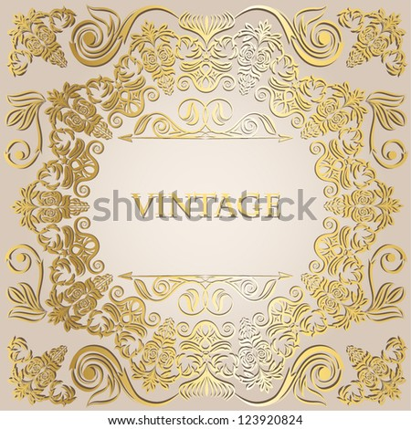 Elegant vintage frame with place for your text - stock vector