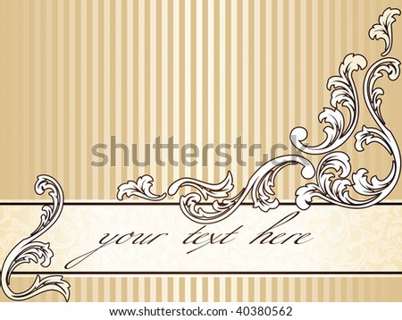 Elegant vintage sepia banner, horizontal (vector); a JPG version is also available - stock vector