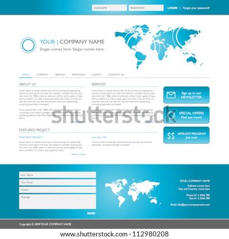 elegant website template, vector illustration - stock vector