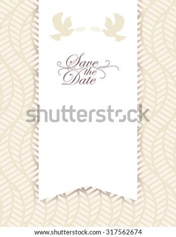 Elegant Wedding card - stock vector