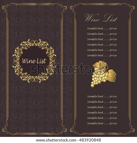 Wine Menu Stock Images, Royalty-Free Images & Vectors | Shutterstock