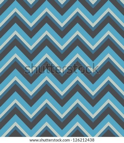 Elegant zigzag seamless pattern. Chevron pattern in blue colors. Vector illustration - stock vector