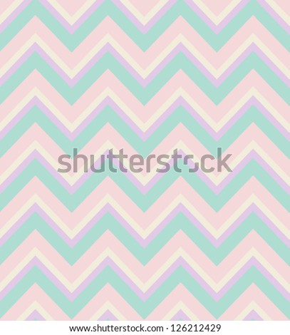 Elegant zigzag seamless pattern. Chevron pattern in pastel colors. Vector illustration