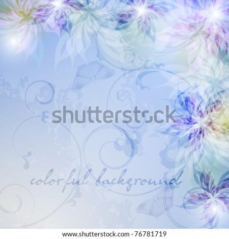Elegantly floral background, eps10 format - stock vector
