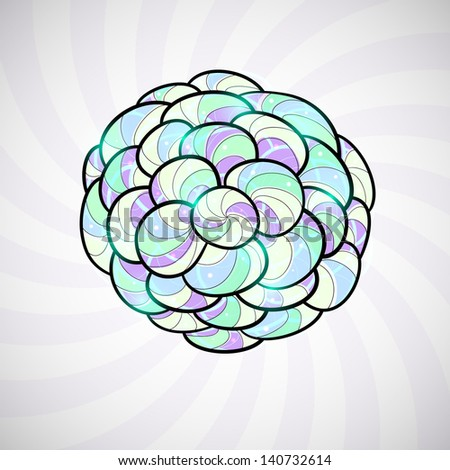 Element crystal style, stained-glass window, space theme, vector illustration background