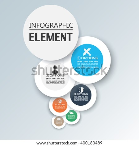 Element Infographic Chart Template Geometric Figure Stock Vector