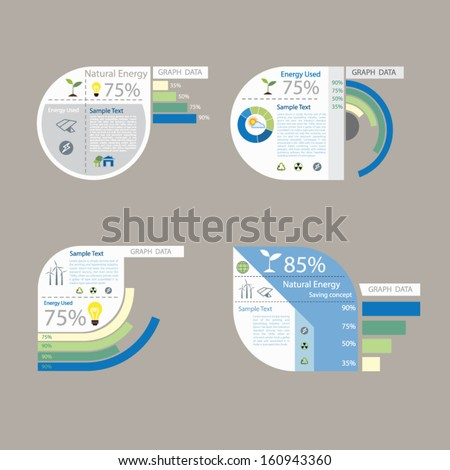 element of graph design for presentation chart - stock vector