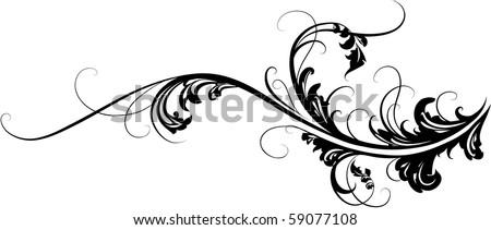 element of ornament - stock vector