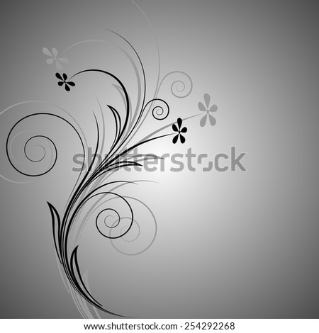 element of ornament on a gray background  - stock vector