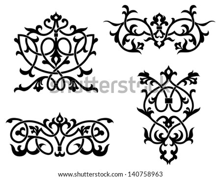 filigree design templates black white floral pattern seamless