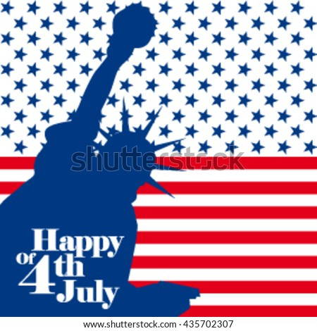 Elements for Happy fourth of July, Independence Day of the United States of America.  flag background. vector illustration