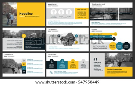 elements infographics on white background presentation stock, Powerpoint templates