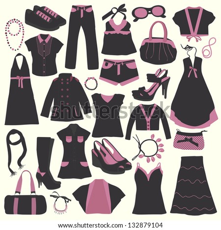 Black Department Store Clothing Icons Vector Free Download