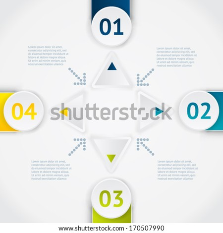 Elements of infographic. Modern vector design template. Arrows elements. Banner elements.