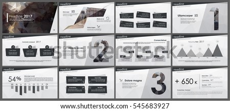 elements infographics low poly style design stock vector (royalty, Low Poly Business Presentation Template, Presentation templates