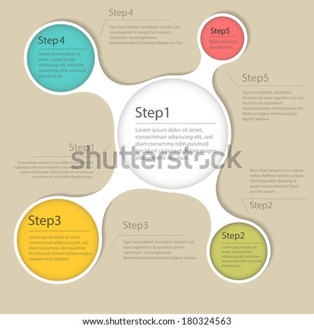 Elements of infographics. Step by step design