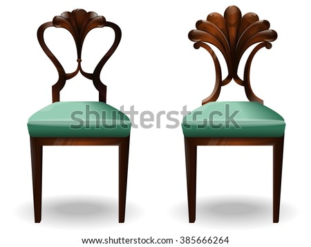 Elements of interior chair.Modern chairs.Creative interior objects collection.Chair classic detailed vector illustration.Furniture icons.Vector chair isolated on a white background. - stock vector