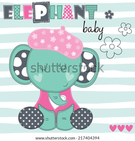 elephant baby vector illustration - stock vector
