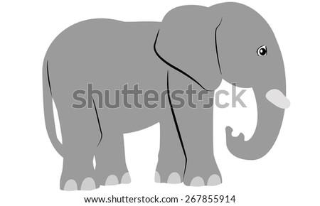 Elephant Cartoon  - stock vector
