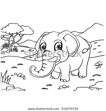 elephant coloring pages vector - Coloring Pages Indian Elephants