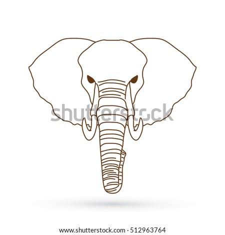 Indian Elephant Head Outline 78118 | BURSARY