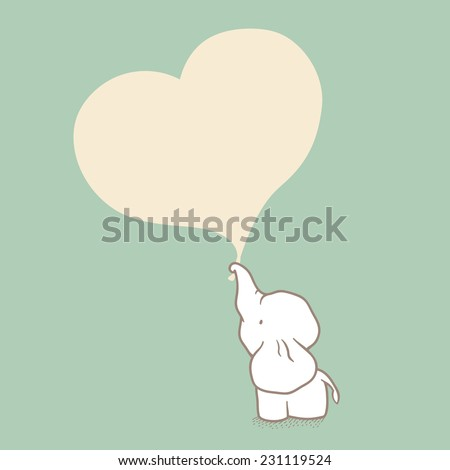 elephant illustration - stock vector