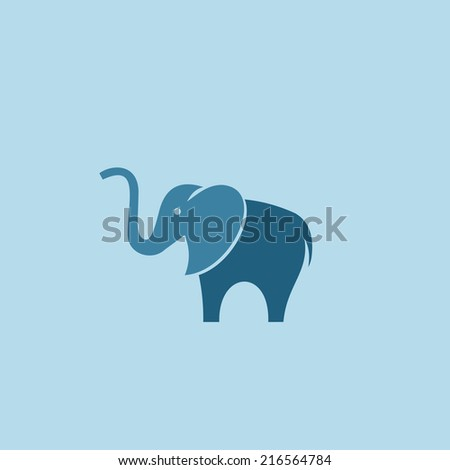 Elephant logo design template. - stock vector