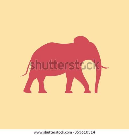 Elephant silhouette - stock vector