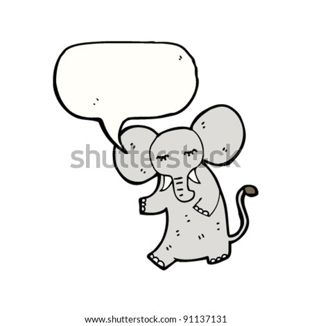 elephant with speech bubble