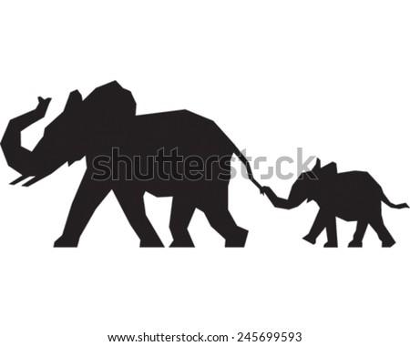 Elephant trunk up vector