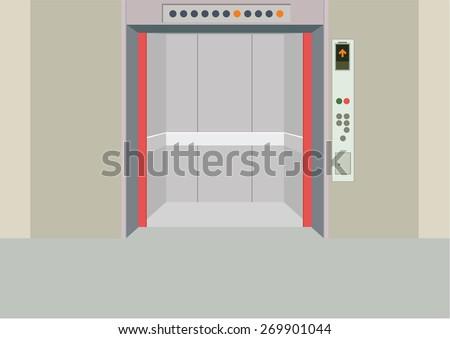 elevator - stock vector