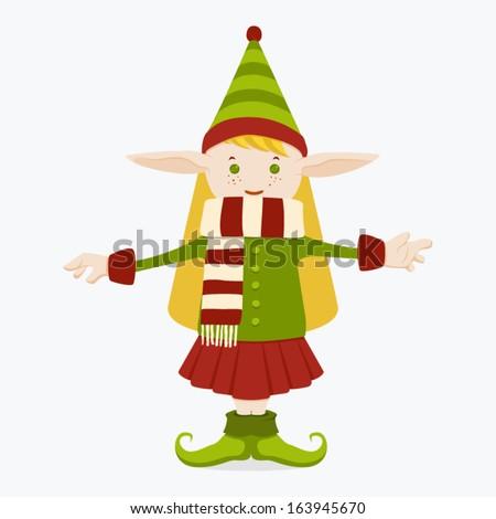 Elf Girl - stock vector