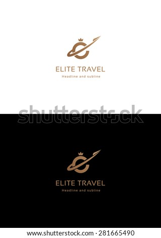 Elite travel company logo teamplate. - stock vector