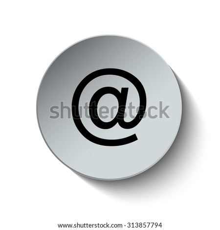 Email address icon. Address icon. Button. Vector illustration. - stock vector