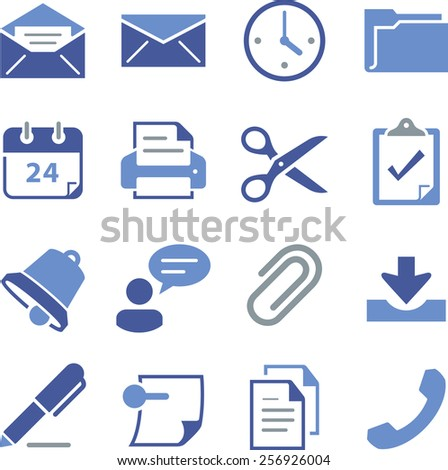 Email and office icon set.