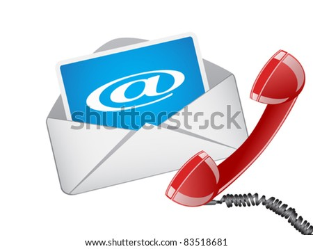 email and phone ,vector