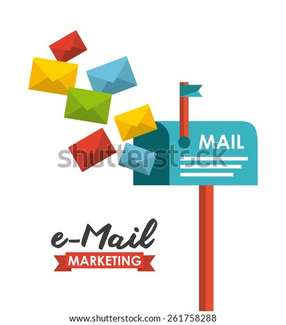 email concept design, vector illustration eps10 graphic  - stock vector