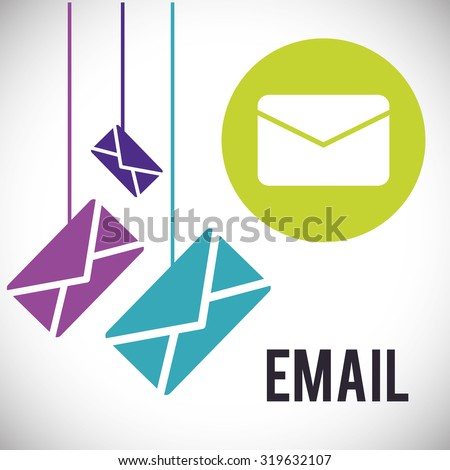 Email concept with envelope design, vector illustration 10 eps graphic.
