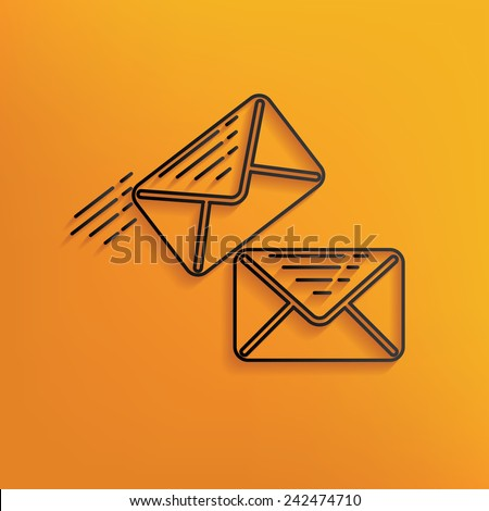 Email design on yellow background,clean vector