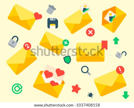 Email Envelope Cover Icons Communication Correspondence Blank Cover Address Design  Paper Empty Card Writing Message Vector  Design Paper For Writing