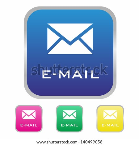 Email icon - stock vector