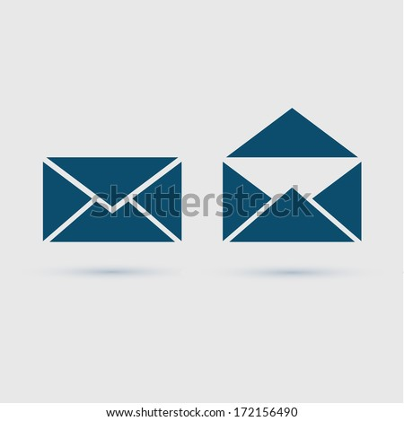 Email icon envelope, vector illustration - stock vector