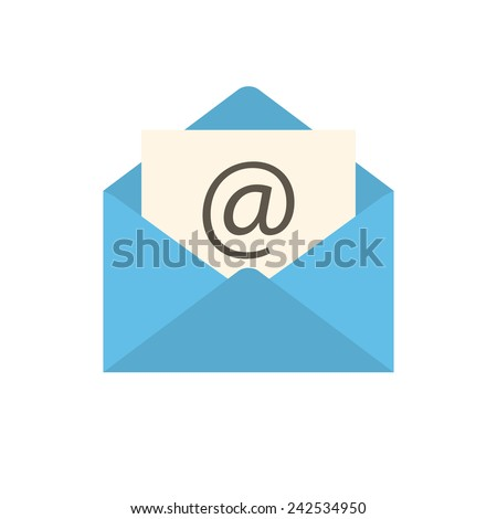 Email icon (flat design) - stock vector