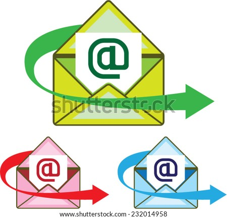 Email Icon mail sent vector - stock vector