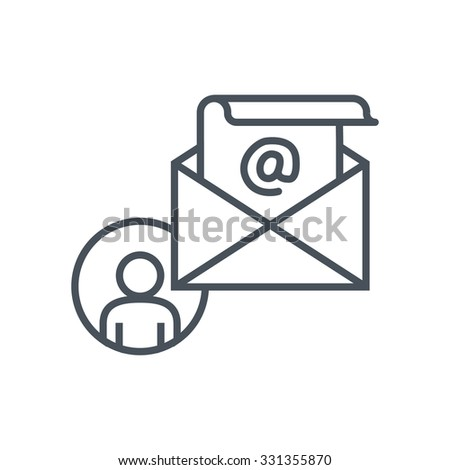 Email icon suitable for info graphics, websites and print media. Colorful vector, flat icon, clip art. - stock vector