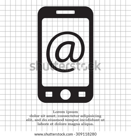 email icon. technology background