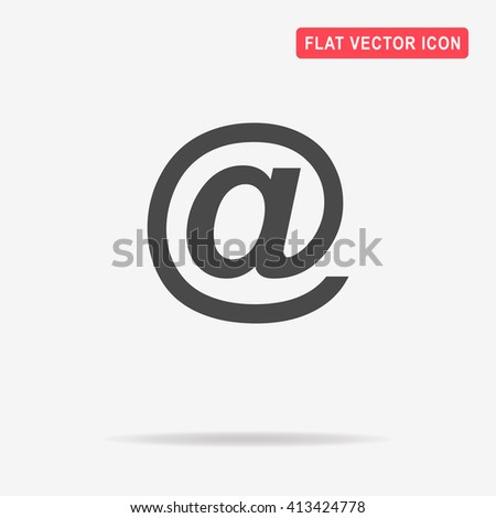 Email icon. Vector concept illustration for design. - stock vector